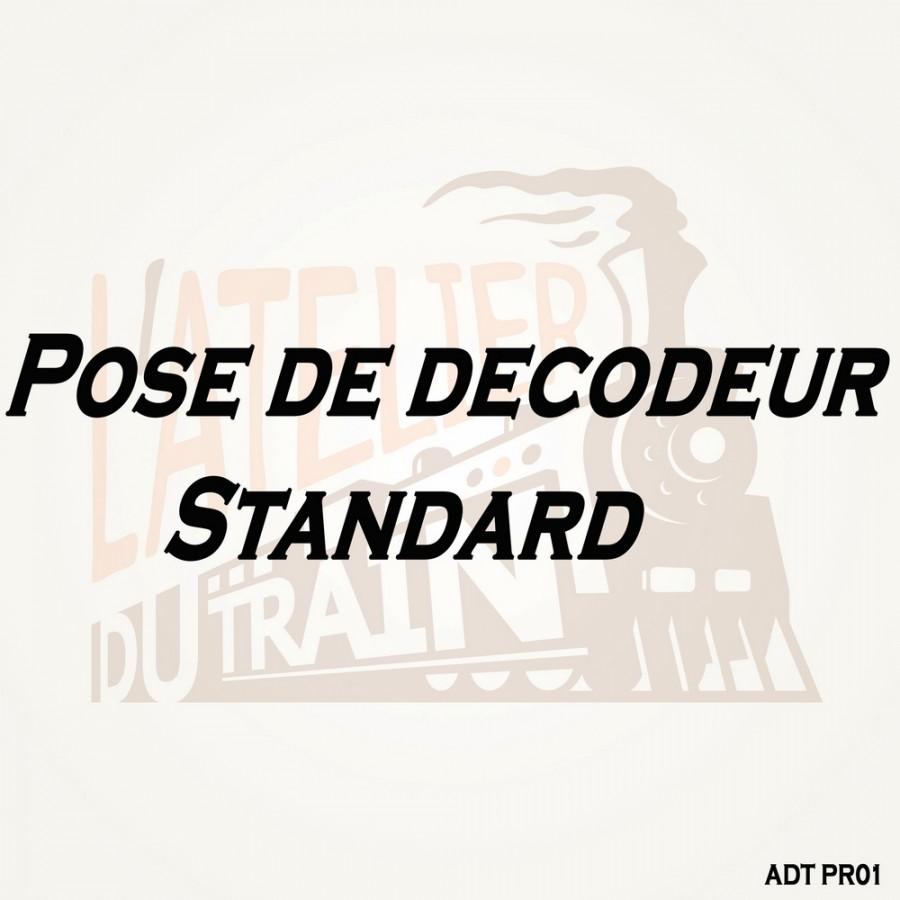 Pose de décodeur standard sur Loco Neuve pré-équipée-Toutes échelles-ADT PR01