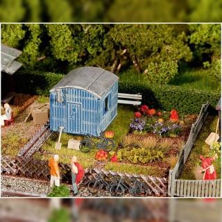 Jardin potager avec cabane-HO 1/87-FALLER 180490