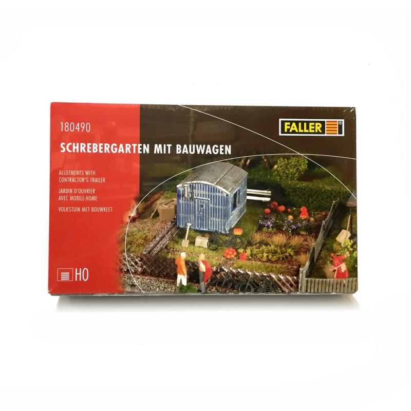 Jardin potager avec cabane ho 1 87 faller 180490 for Jardin 87