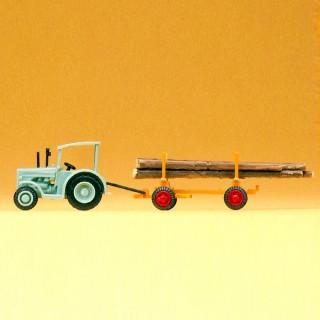 Tracteur avec chargement de bois-N-1/160-PREISER 79504