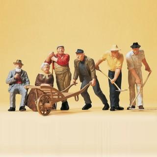 6 personnages de village + accessoires-G 1/22.5-PREISER 45157