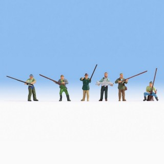 6 pêcheurs-HO-1/87-NOCH 15892