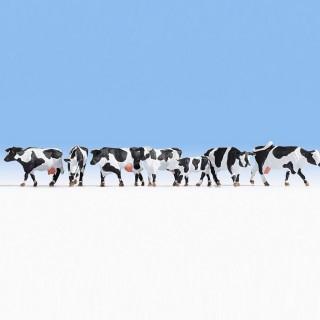 7 vaches noires et blanches-HO-1/87-NOCH 15725