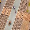 Passage de voies en madriers Laser Cut minis-HO 1/87-NOCH 14304