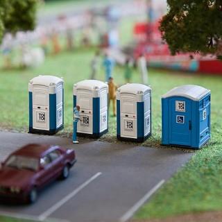 """4 Toilettes mobiles """"Toi Toi""""-HO 1/87-FALLER 180543"""
