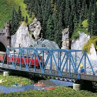 Pont à Caissons type métallique-HO 1/87-FALLER 120560