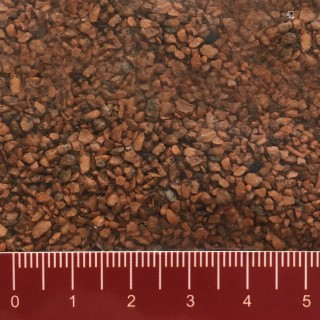 Ballast rouge brun en pierres (gros) 200g-Toutes échelles-HEKI 33121
