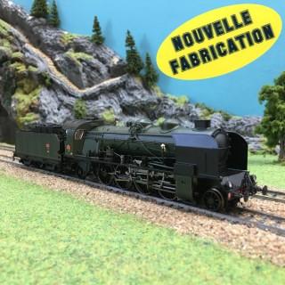 Locomotive 141 E 672 Ales Sncf ép III Nouvelle Fabrication-HO-1/87-REE MB-052