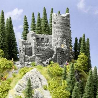 Ruine de château avec tour-HO 1/87-NOCH 58605
