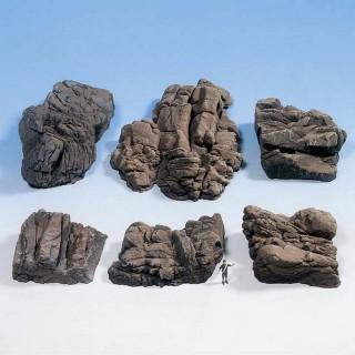 6 rochers en mousse rigide-HO 1/87-NOCH 58452
