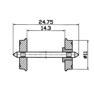 2 essieux isolés-HO-1/87-ROCO 40264