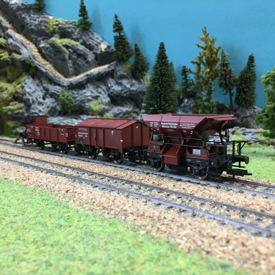 Coffret de 3 wagons DR ép II-HO 1/87-FLEISCHMANN 550504