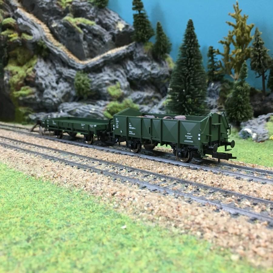 Coffret de 2 wagons DB ép IV-HO 1/87-FLEISCHMANN 591002