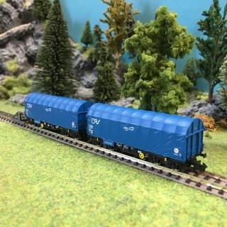 2 wagons bachés CFL ép VI-N-1/160-FLEISCHMANN 837914