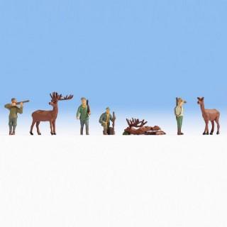 Scène de chasse aux cerfs-HO-NOCH 15731