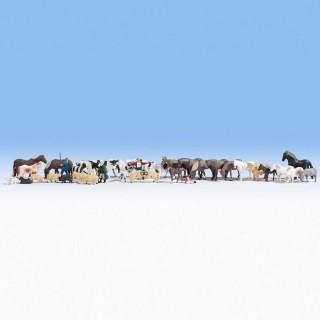 Set de 35 animaux de campagne-HO-NOCH 16049