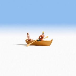Petite barque de balade + 2 personnages-HO-NOCH 16800