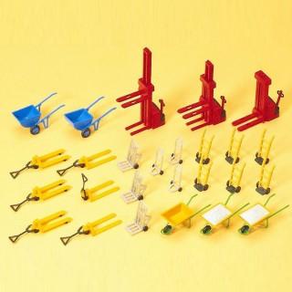 26 outils de transport-HO 1/87-PREISER 17107