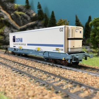 Wagon DISPAM ép V SNCF-HO 1/87-LSMODELS 30309