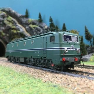 Locomotive CC7124 Chambéry Maurienne ép IV SNCF digital son 3R-HO 1/87-REE MB107SAC