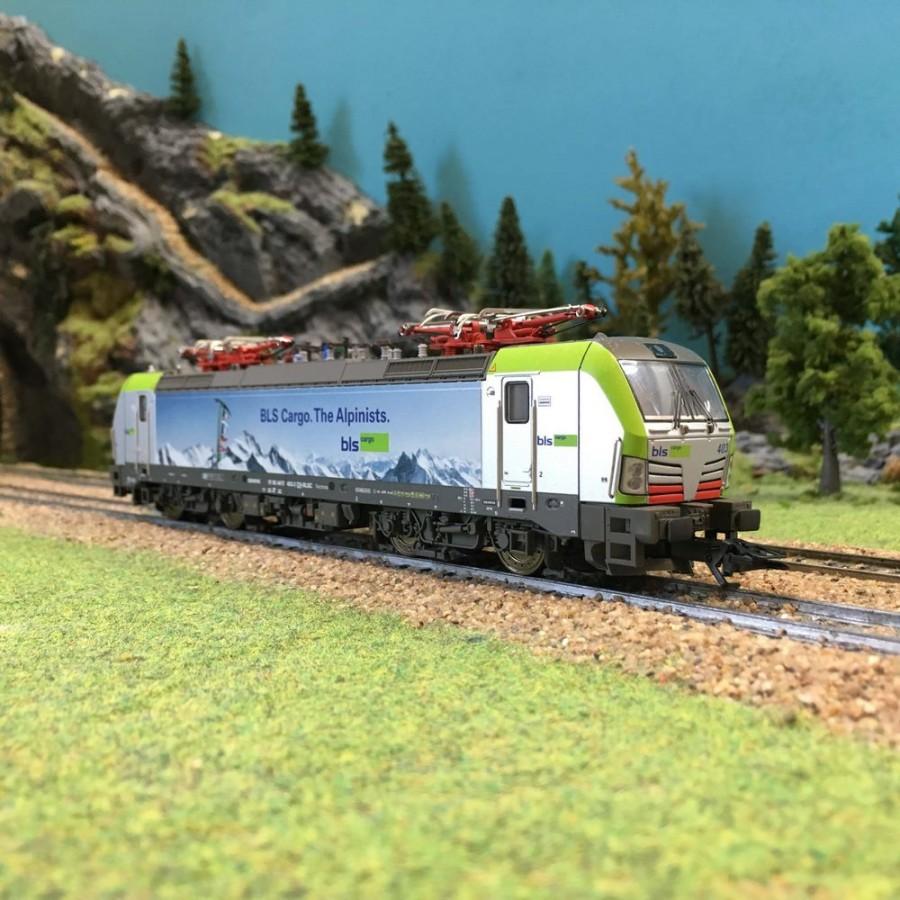 """Locomotive BLS Cargo 475 """"Alpinistes"""" ép VI digitale son 3R-HO 1/87-MARKLIN 36198"""