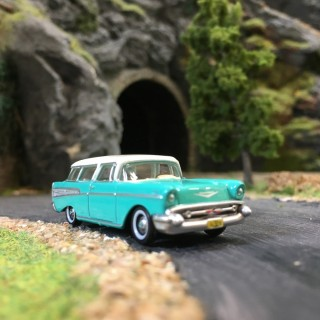 Chevrolet Nomad 1957 Surf Green-HO-1/87-OXFORD BUSCH 87CN57004