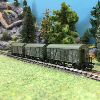 Set de 3 wagons Wermacht ép II DRG-N-1/160-HOBBYTRAIN 24910