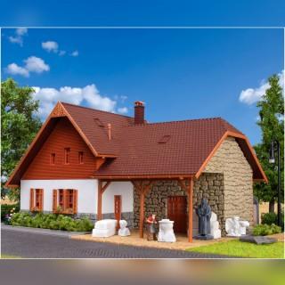 Maison avec atelier-HO-1/87-VOLLMER 48280