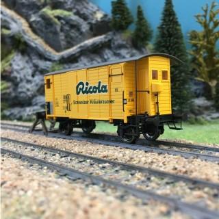 Wagon couvert RICOLA ép III SBB-HO 1/87-BRAWA 47862