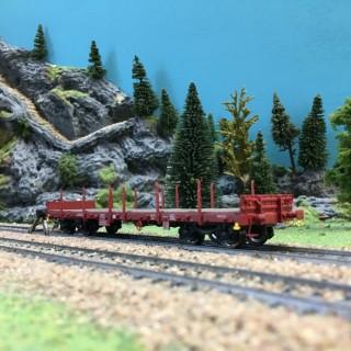 Wagon plat à ranchers ép VI TSS-HO 1/87-BRAWA 47115