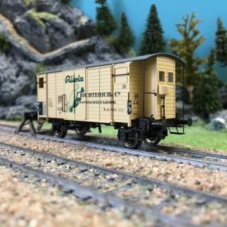 Wagon couvert RICOLA ép III SBB-HO 1/87-BRAWA 47853