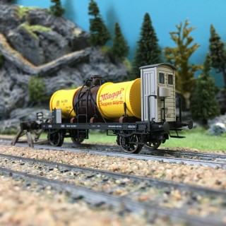 Wagon citerne K2 Maggi ép III SBB-HO 1/87-BRAWA 47858