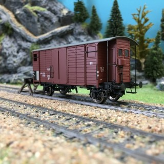 Wagon couvert K2 ép III BLS-HO 1/87-BRAWA 47855