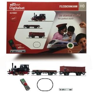 Coffret digitale avec Z21 vapeur DB ép III-HO-1/87-FLEISCHMANN 631881