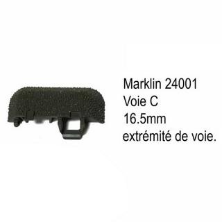 Extrémité de voie C 16.5mm-HO-1/87-MARKLIN 24001