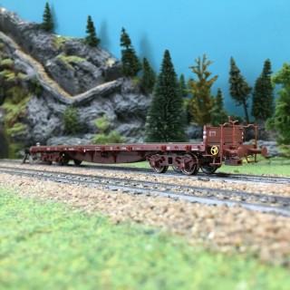 Wagon plat à ranchers ép III SNCF-HO 1/87-BRAWA 47232