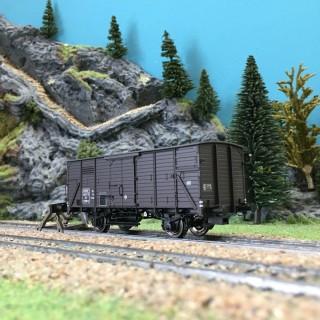Wagon couvert KF2 Europ ép III SNCF-HO 1/87-BRAWA 49726