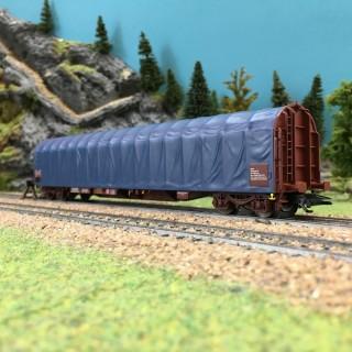 Wagon baché bleu SBB Cargo ép VI-HO 1/87-MARKLIN 47060