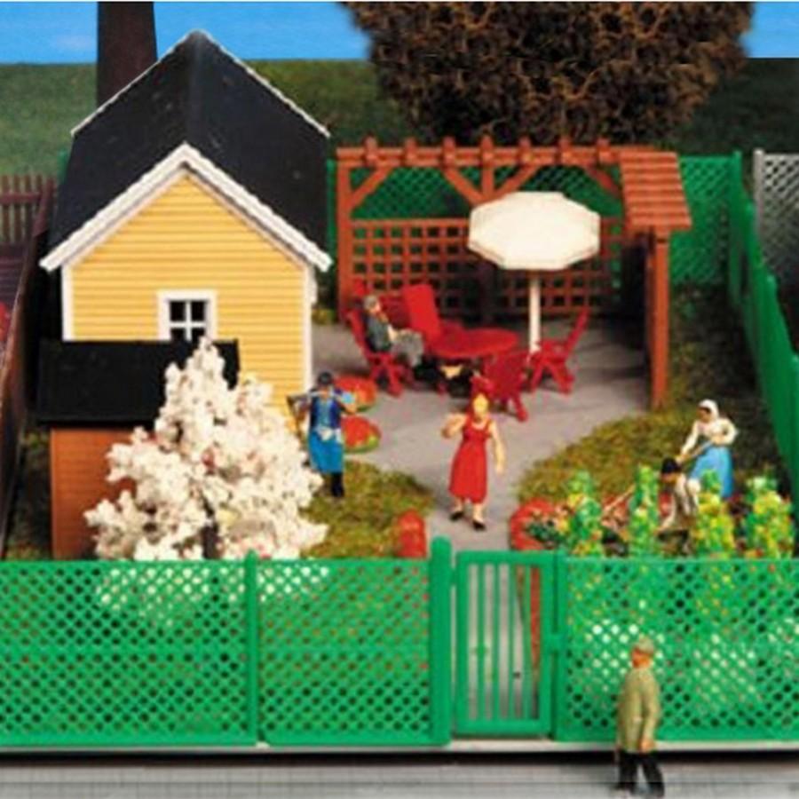 Petite maison de jardin avec accessoires-HO-1/87-KIBRI 38659