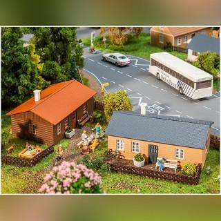 2 bungalows de vacances-HO 1/87-FALLER 130608