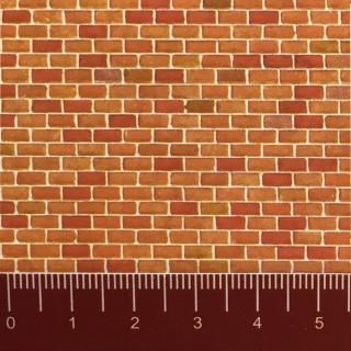 Plaque cartonnée briques oranges HO 1/87-FALLER 170608