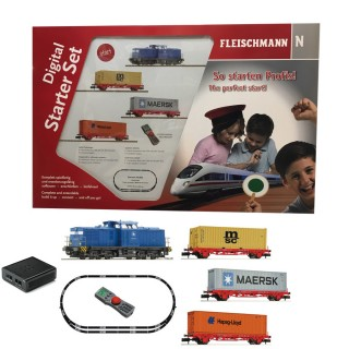 Coffret digitale diesel BR 204 + 3 wagons ep VI -N-1/160-FLEISCHMANN 931882