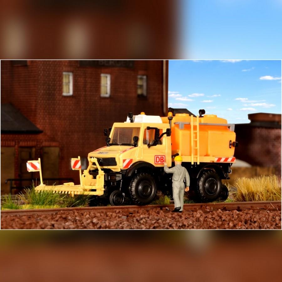 Camion Unimog pour désherbage route -rail -HO-1/87-KIBRI 16303