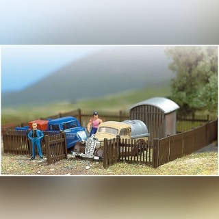 Set de clôtures type bois 120cm -HO-1/87-BUSCH 6007