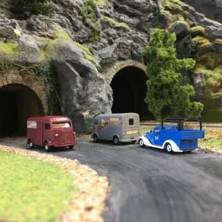 Pack de 3 véhicules-HO 1/87-BUSCH 89009
