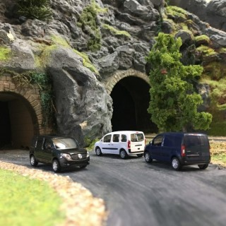 Pack de 3 véhicules-HO 1/87-BUSCH 89005