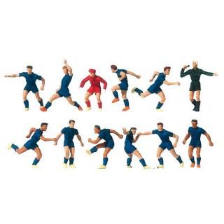 """Equipe de Foot """"Bleu"""" + arbitre-HO 1/87-PREISER 10759"""