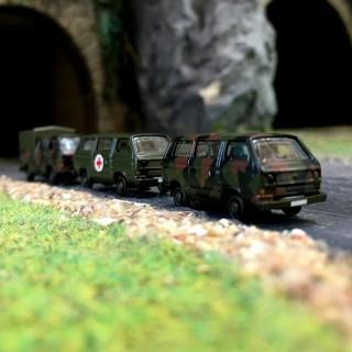 3 VW Transporter T3 Armée-N 1/160-MINIS LC4312