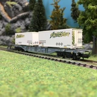 "Wagon porte container ""Fattorini"" SBB Ep VI-N 1/160-FLEISCHMANN 865242"
