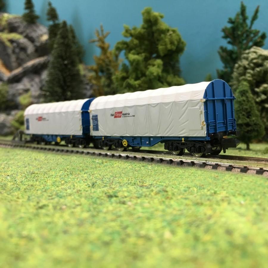 2 wagons bachés Rail Cargo Austria OBB Ep VI-N 1/160-FLEISCHMANN 837924